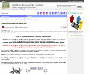 Formación de compuestos y polaridad. (Selectividad.tv)