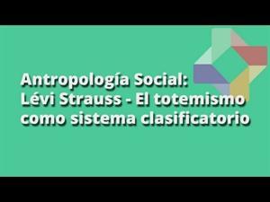 El totemismo como sistema clasificatorio