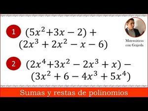 Suma y resta de polinomios. Fácil de entender | Video 85