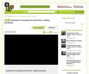"""Conferència """"El projecte EU Kids Online"""". Maialen Garmendia (Edu3.cat)"""