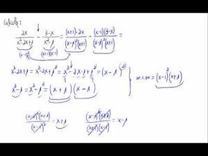 Operación con fracciones algebraicas
