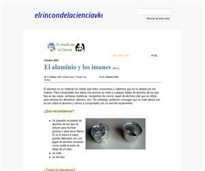 El aluminio y los imanes