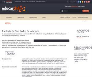La fiesta de San Pedro de Atacama (Educarchile)
