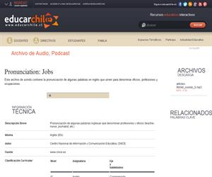 Pronunciation: Jobs (Educarchile)