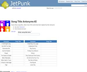 Song Title Antonyms 2