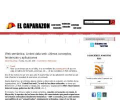 Web semántica, Linked data web: últimos conceptos, tendencias y aplicaciones (por Dolors Reig en El caparazon)