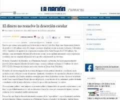 El dinero no resuelve la deserción escolar - OPINIÓN - La Nación