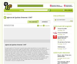 Agència de Qualitat d'Internet i CNET (Edu3.cat)