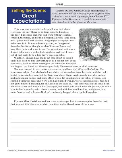 Setting the Scene: Great Expectations