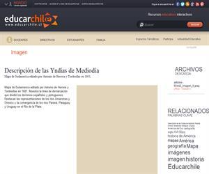 Descripción de las Yndias de Mediodía (Educarchile)