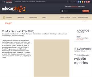 Charles Darwin (1809 - 1882) (Educarchile)
