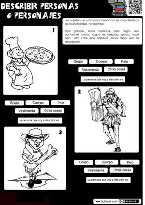 Describir personas o personajes (Actiludis)