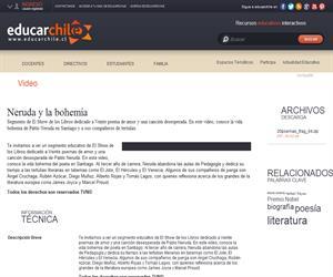 Neruda y la bohemia (Educarchile)