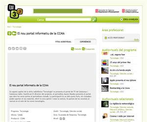El nou portal informatiu de la CCMA (Edu3.cat)