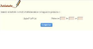 Raíces de un polinomio (ematematicas.net)
