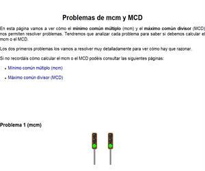 Problemas de aplicación del mcm y MCD