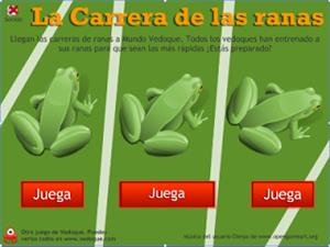 Carrera de ranas (vedoque.com)