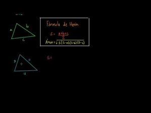 Fórmula de Herón (Khan Academy Español)