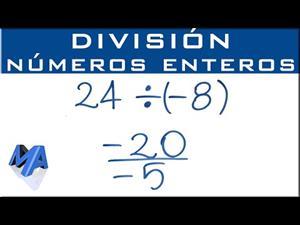 Cómo dividir números enteros