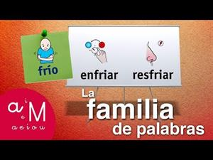 Vocabulario: Familia de palabras. Editorial Anaya