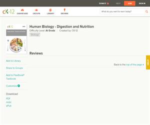 Human Biology - Digestion and Nutritio?