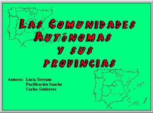 Las Comunidades Autónomas y sus Provincias (jClic)