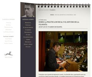 Sobre la práctica musical y el estudio de la Filosofía - Santiago Auserón