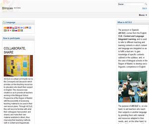 AICOLE, recursos educativos para enseñanza bilingüe