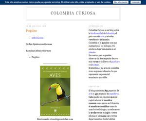 Colombia curiosa, fichas de animales
