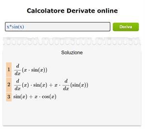 Calcolatore di Derivate Online