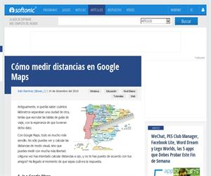 Cómo medir distancias en Google Maps (Onsoftware.softonic.com)
