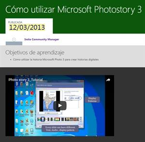 Cómo utilizar Microsoft Photostory 3