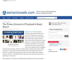 Los problemas de privacidad de Facebook's Graph Search (Semantic Web)