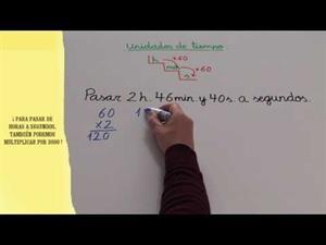 Convertir horas, minutos y segundos en segundos