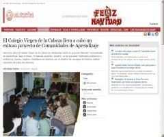 El Colegio Virgen de la Cabeza lleva a cabo un exitoso proyecto de Comunidades de Aprendizaje   Valdepeñas