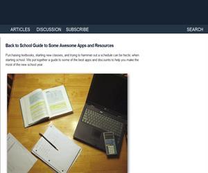 Guía con aplicaciones útiles para la vuelta a clase (en inglés)
