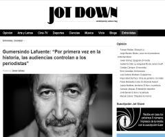 """Gumersindo Lafuente: """"Por primera vez en la historia, las audiencias controlan a los periodistas"""" (Jot Down)"""