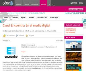 Canal Encuentro: En el medio digital