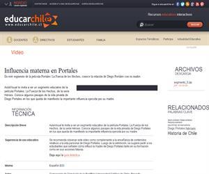 Influencia materna en Portales (Educarchile)