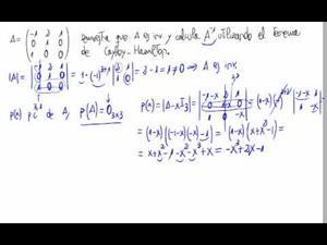 Matriz inversa - Método de Cayley Hamilton