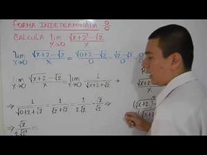 Cálculo de límites Indeterminados mediante racionalización