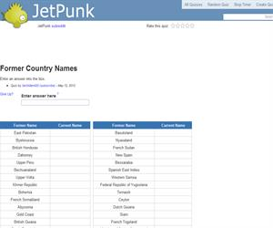 Former Country Names