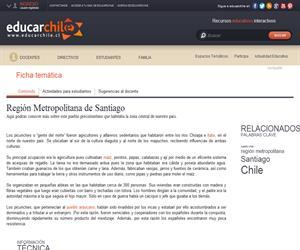 Región Metropolitana Picunches (Educarchile)