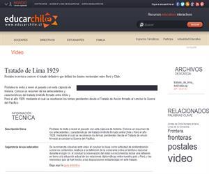 Tratado de Lima 1929 (Educarchile)