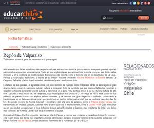 5ta Región Patrimonio Regional (Educarchile)