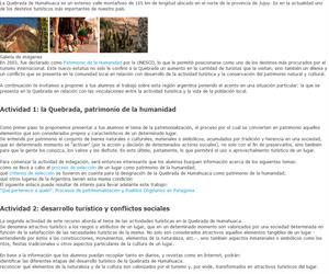 Turismo y Patrimonio. Quebrada de Humahuaca