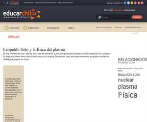 Leopoldo Soto y la física del plasma (Educarchile)