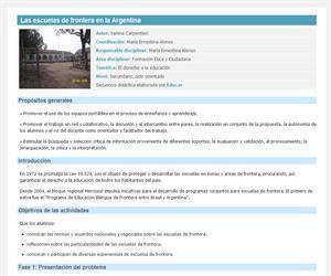 Las escuelas de frontera en la Argentina