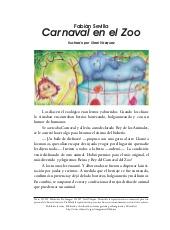 Carnaval en el Zoo, un cuento breve