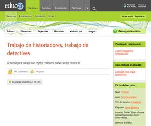 Trabajo de historiadores, trabajo de detectives